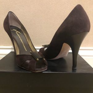 Giuseppe zanotti design brown suede high heels
